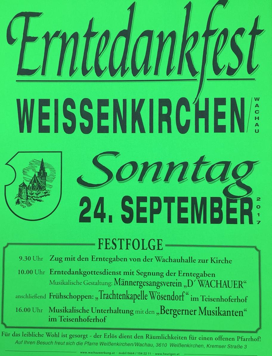 Erntedankfest 2017 Weißenkirchen